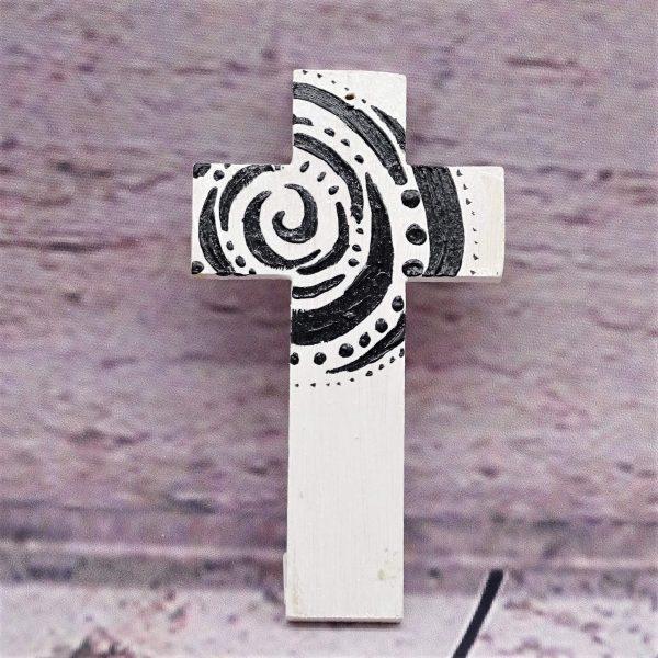 Kleines handbemaltes Kreuz