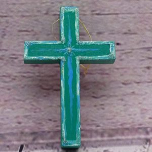 Handbemaltes Kreuz aus Holz